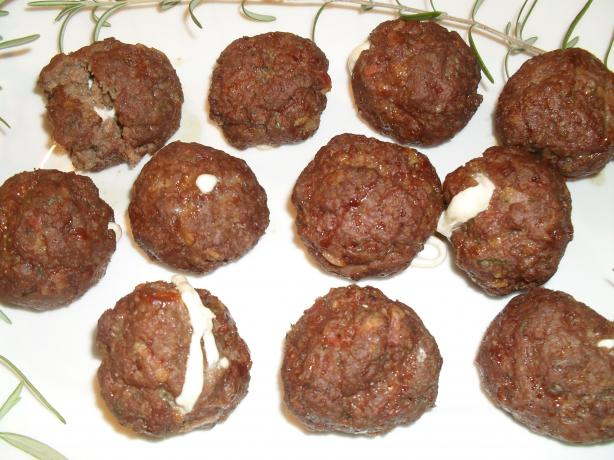 Cheese Stuffed Bacon Meatballs (Aaron Mccargo, Jr.)