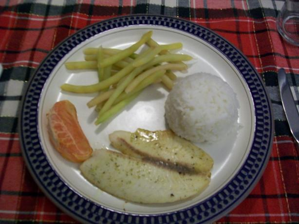 Quick Baked Tilapia With Grapefruit Dill Butter