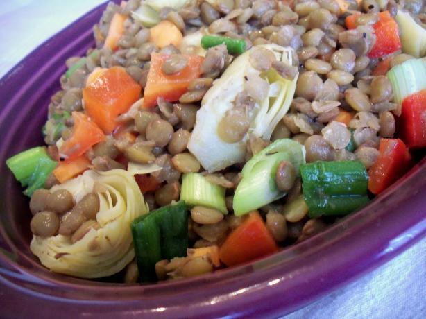Easy Warm Lentil Salad