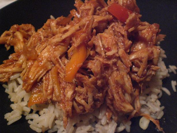 Crock Pot BBQ Chicken & Peppers