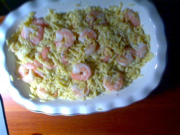 Yummy Orzo Pasta With Shrimp