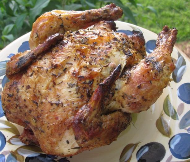 "Acadia's Cherry Sherry ""beer Can"" Chicken"