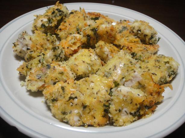 Oven Fried Garlic Chicken