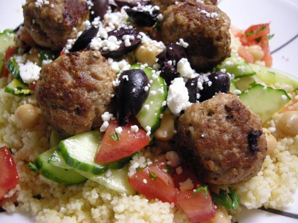 Mini Turkey Meatballs With a Fresh Couscous Salad