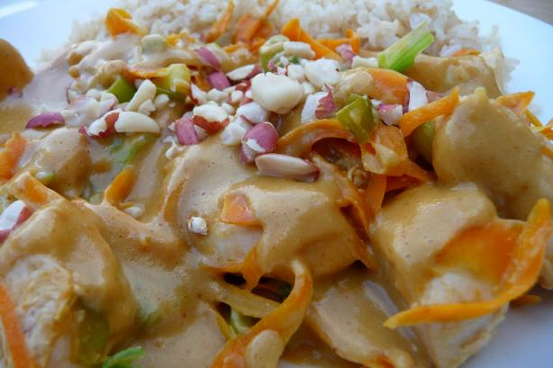 Thai Coconut Peanut Chicken