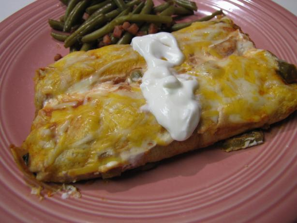 Easy Beef or Vegetarian Enchiladas