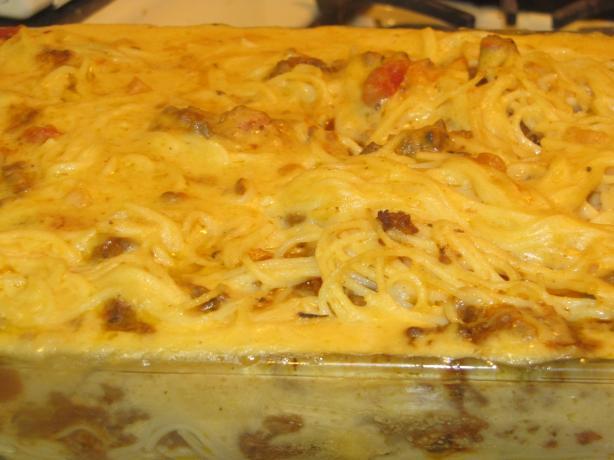 Spasagne or Spaghetti Pie