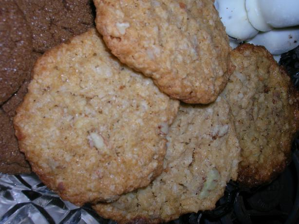 Coconut Oatmeal Refrigerator Cookies
