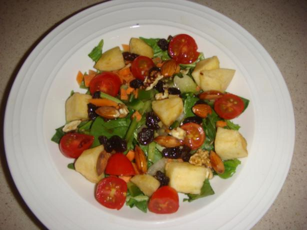 Colorful Vegetarian Spinach Salad