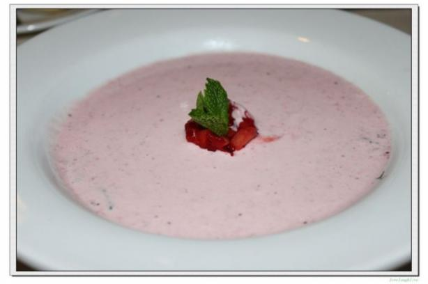 Carnival Cruise Strawberry Bisque