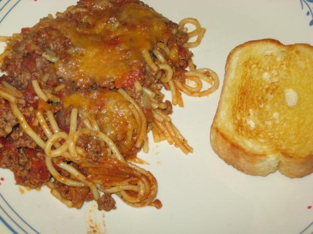 Baked American Spaghetti