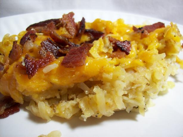 Bacon Topped Cheesy Potatoes