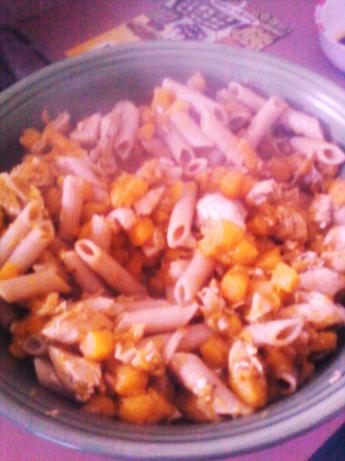 Butternut Squash and Chicken Pasta
