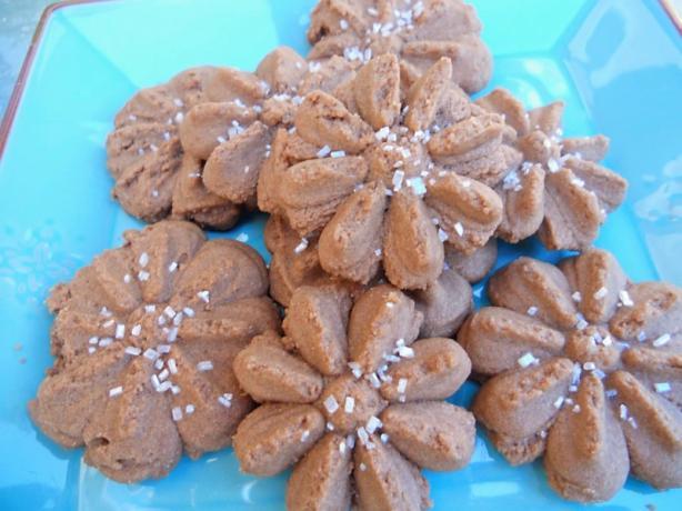 Cocoa Cherry Spritz Cookies