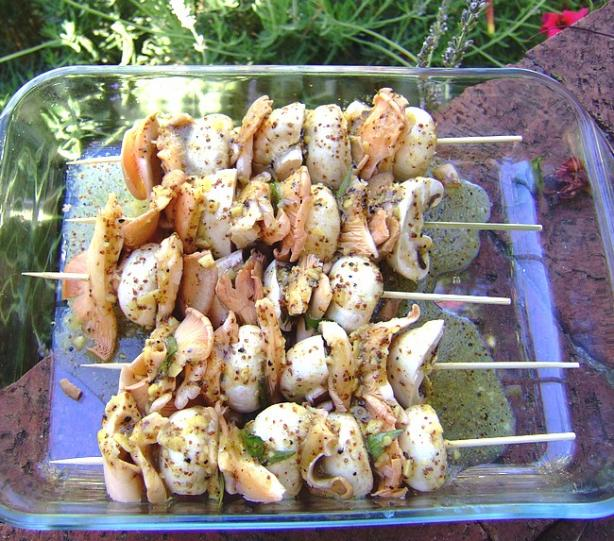 Mushroom Kebabs for the Grill