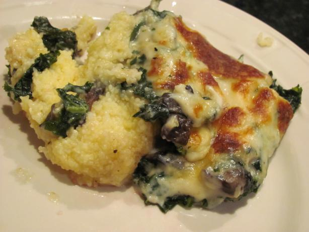 Polenta With Kale and Portobello Mushrooms (Rachael Ray)