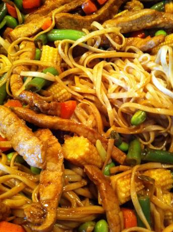 Tangy Thai Pork With Noodles