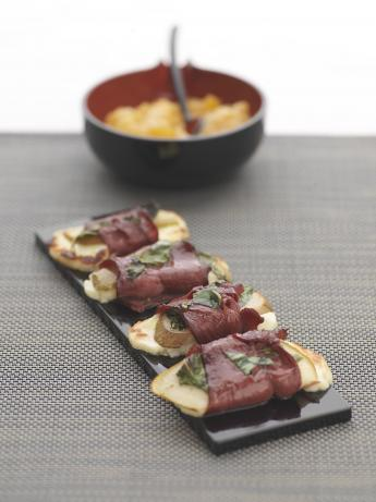 Halloumi and Smoked Venison