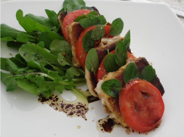 Arugula, Crispy Mozzarella Cheese, Tomato Salad
