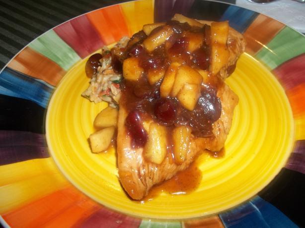 Skillet Spiced Cranberry Chicken