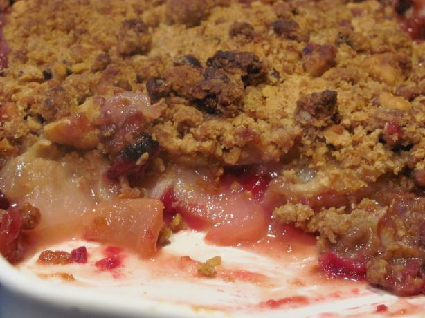Cranberry Pear Crunch With Granola Topping
