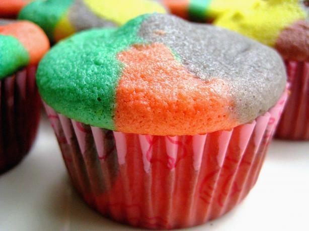 Rainbow Bright Cupcakes