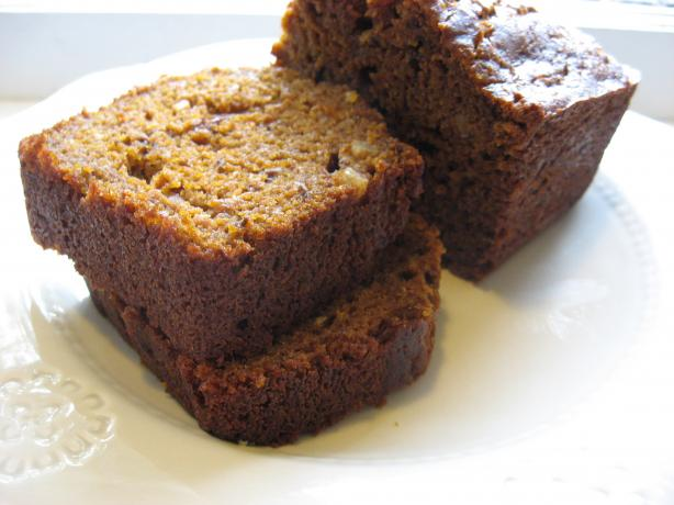 Dark Molasses Pumpkin Bread