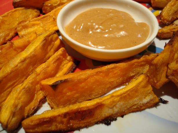 Sweet Potato Fries With BBQ Mayo