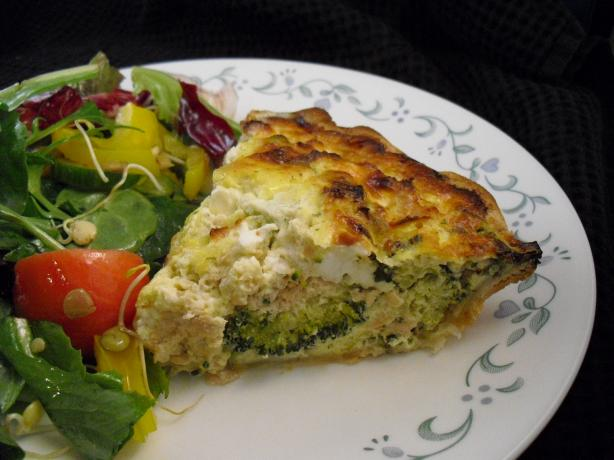 Craze-E Salmon and Broccoli Quiche