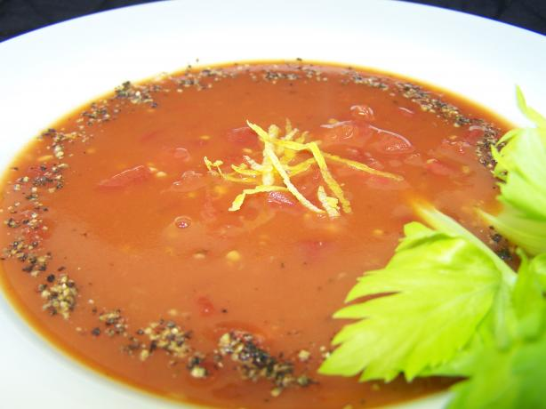 Beefed-Up Bloody Mary Soup