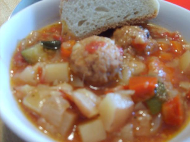 Savory Meatball Soup