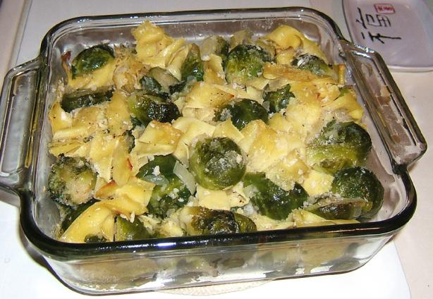 Brussels Sprouts With Egg Noodles