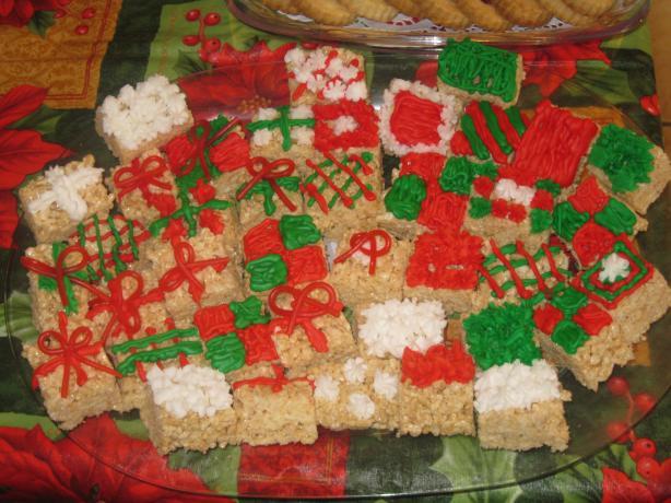 Holiday Presents Rice Crispy Treats