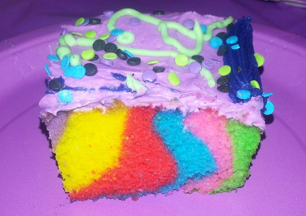 Vibrant Rainbow Cake
