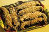 Nut Crusted Portobello Mushroom Strips