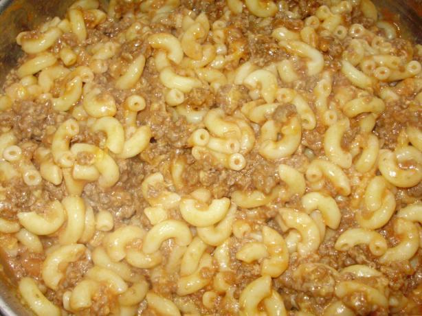 Beefy Macaroni Skillet
