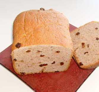 Delicious Breadmaker Raisin Bread