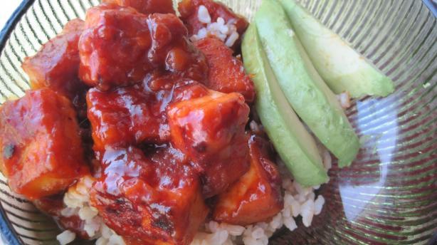 Chinese Bourbon Tofu