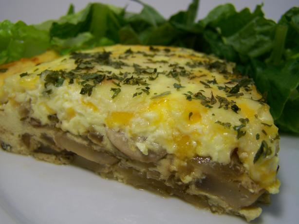 Herb and Mushroom Quiche - from Get Cracking!