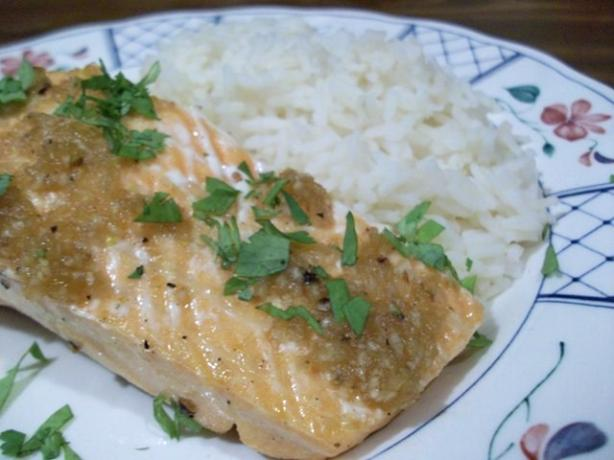 Broiled Salmon With Chili Glaze