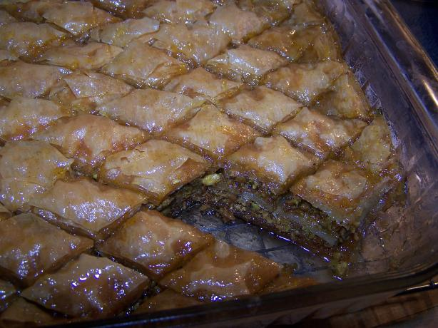 Pistachio Baklava With Orange-Cardamom Syrup