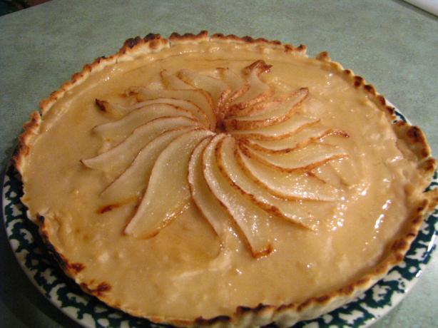 Pear Crème Brûlée Tart
