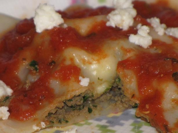 Ravioli With Tomato Garlic Sauce