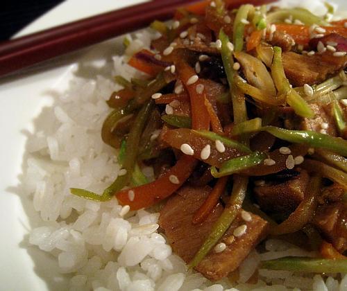 Asian Pork & Veggie Stir Fry