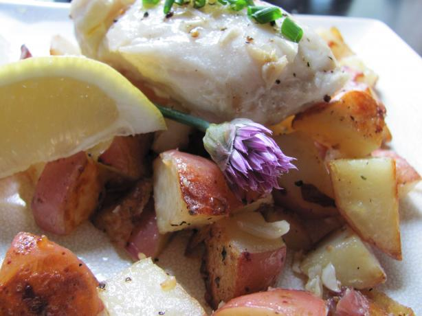Cute Pacific Cod With Baby Roastie Potatoes- from the Farm