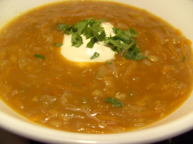 Curried Carrot and Split Pea Soup