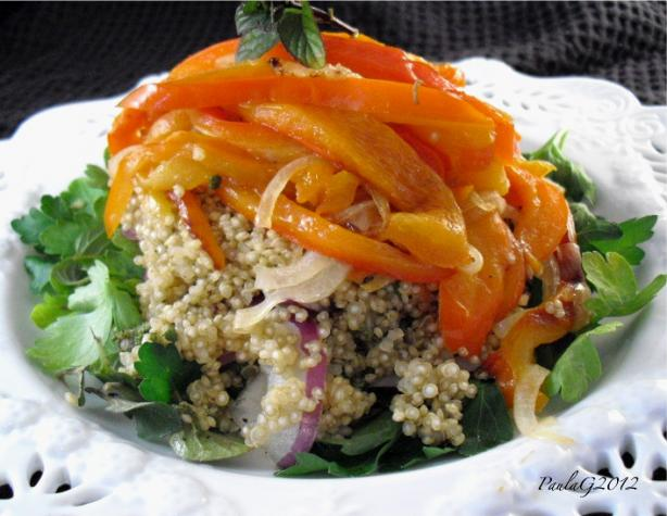 Roast Capsicum (Bell Peppers) and Quinoa Salad