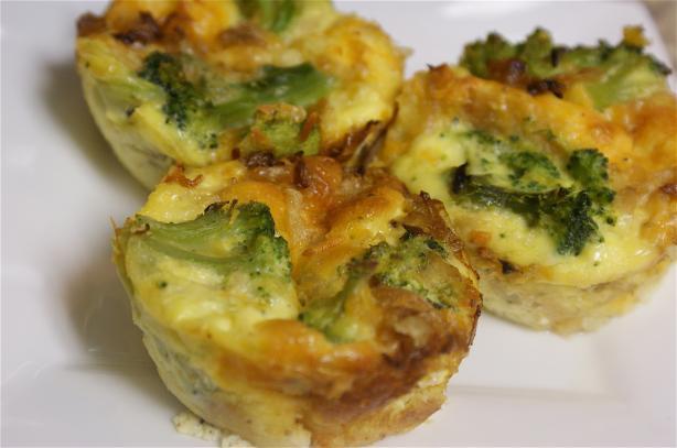 Broccoli and Cheese Mini Quiche