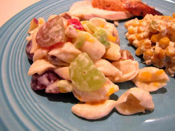 Pasta and Black Walnut Fruit Salad