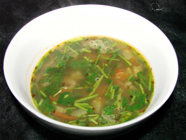 Lentil Soup With Watercress